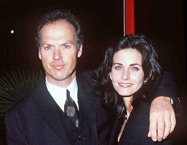 Michael Keaton and Courtney Cox