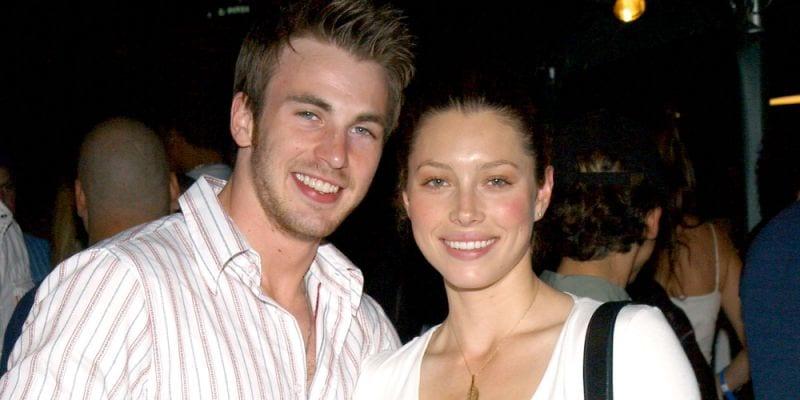 Jessica Biel and Chris Evans