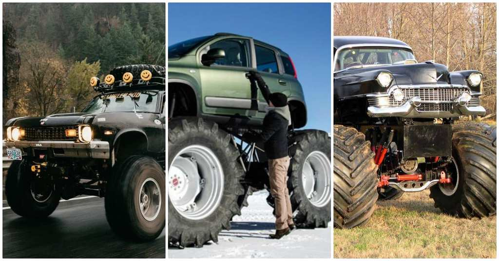 Luxury Cars That Have Been Converted Into Monster Trucks Are