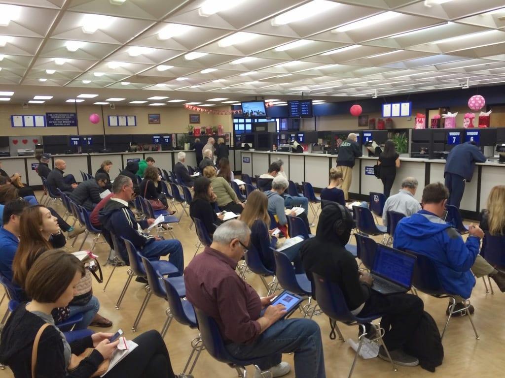 people waiting DMV
