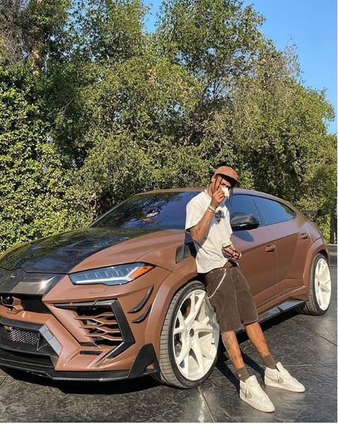 Travis Scott & his modified Lamborghini