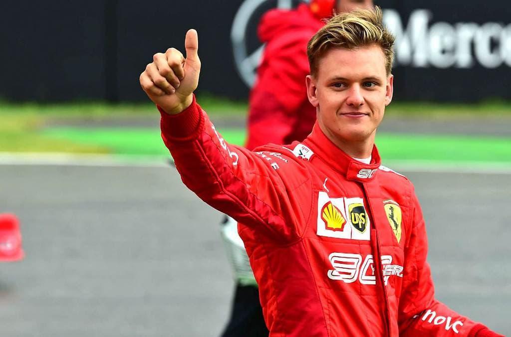 Mick Schumacher as a Ferrari Junior