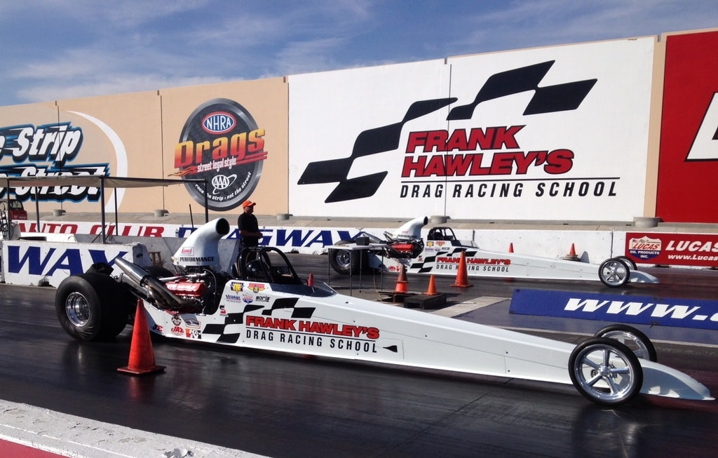 Image from the track at Frank Hawley's Drag Racing School