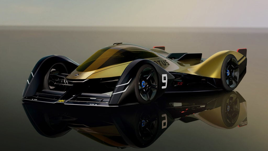 Conceptual art of the E-R9 all-electric endurance racer developed by Lotus.