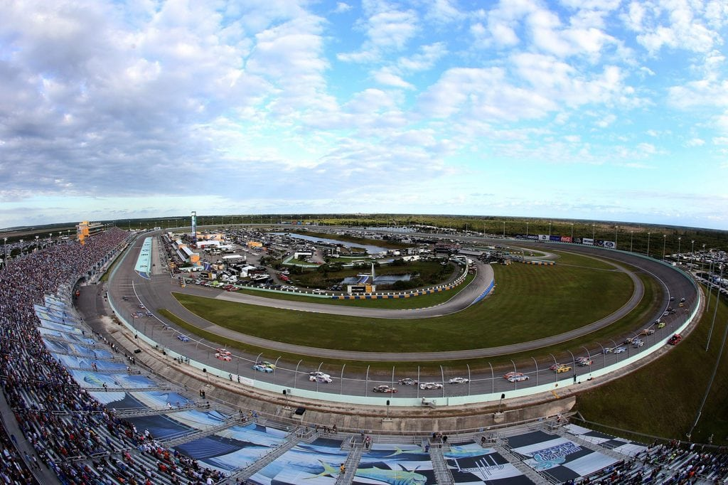 General view during the Monster Energy NASCAR Cup Series Ford EcoBoost 400 at Homestead-Miami Speedway on November 18, 2018 in Homestead, Florida.