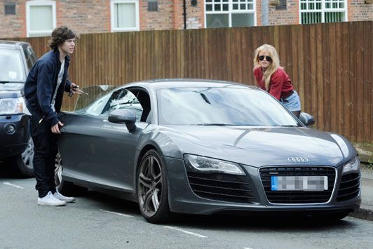 Harry Styles spotted with his Audi R8 Coupe